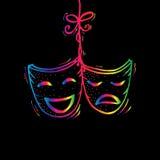 Theatermasken, -drama und -komödie Lizenzfreies Stockfoto