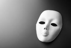 Theatermasker op grijs royalty-vrije stock afbeelding