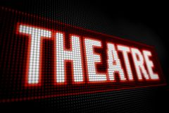 Theaterneon Stock Afbeeldingen