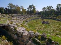 Theatero Greco Syrakus royalty free stock photography