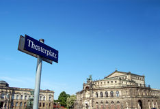 theaterplatz dresden Германии Стоковая Фотография