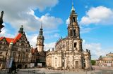 Theaterplatz, Dresden Royalty Free Stock Photo