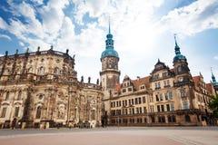 Theaterplatz kwadrat w Drezdeńskim Niemcy Obraz Royalty Free