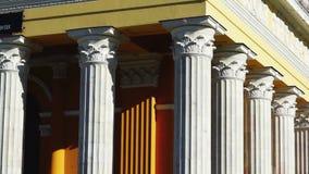 Theaters fronton columns tilt stock video