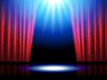 Theaterscène met lichten of theaterstadium vector illustratie