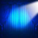 Theaterscheinwerfer Stockbild
