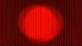 Theaterstadium met filmaftelprocedure royalty-vrije illustratie