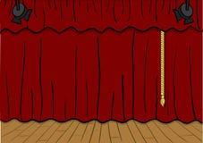 Theaterstufe Stockfotografie
