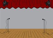 Theaterstufe Stockbild