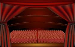 Theaterstufe, Publikum Lizenzfreie Stockfotografie