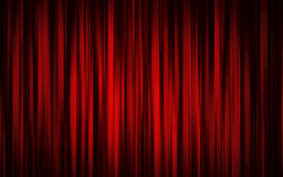 Theaterstufetrennvorhang Lizenzfreies Stockfoto