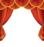 Theaterstufetrennvorhang Lizenzfreie Stockfotos