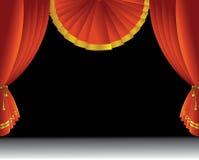 Theaterstufetrennvorhang Lizenzfreie Stockbilder