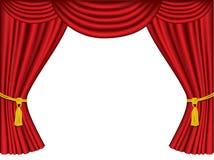 Theatertrennvorhänge mit Exemplarplatz Stockfoto