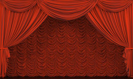 Theatertrennvorhang Stockfotos