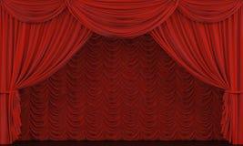 Theatertrennvorhang. Stockfotografie