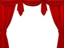 Theatertrennvorhang der roten Farbe Lizenzfreies Stockfoto