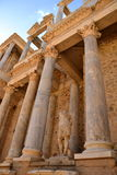 Theatervoorzijde in Roman Theatre, Merida, Spanje Stock Foto's