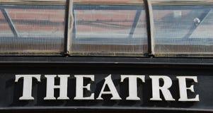 Theaterzeichen Lizenzfreie Stockbilder