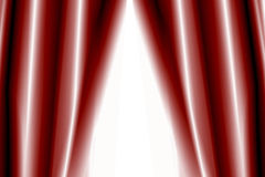 Theather curtains semi-open. Red Theather curtains semi-open - illustration Stock Images