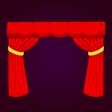 Theather scene blind curtain stage fabric texture performance interior cloth entrance backdrop isolated vector Royalty Free Stock Photo