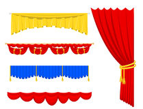 Theather scene blind curtain stage fabric texture performance interior cloth entrance backdrop isolated vector Royalty Free Stock Image