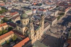 theatine του Μόναχου εκκλησιών στοκ φωτογραφία