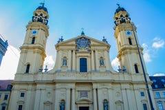 Theatine kościół St Cajetan w Monachium obraz stock