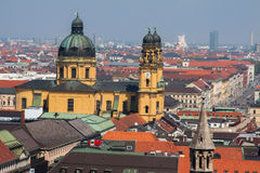 Theatinerkirche Church Munich Germany Stock Image