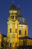 Theatinerkirche church in Munich at night Stock Photo