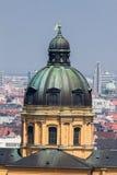 Theatinerkirche kyrklig Munich Tyskland Arkivfoto