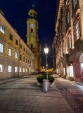 Theatinerkirche and Odeonplatz in the Evening Royalty Free Stock Photography
