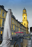 Theatinerstrasse with view on Theatine Church of St. Cajetan Theatinerkirche St. Kajetan in Munich Stock Photo