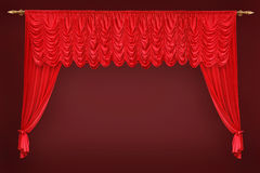 Theatrе curtain Stock Images