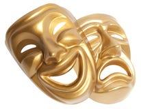 Theatraal geïsoleerd masker stock afbeeldingen