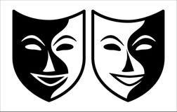 Theatraal masker royalty-vrije illustratie