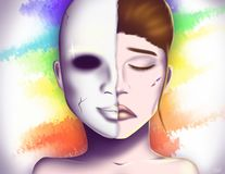 Theatraal Masker | Pretender stock illustratie