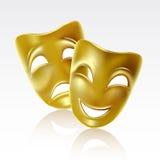 Theatrale maskers Stock Afbeelding