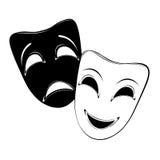 Theatrale maskers Royalty-vrije Stock Foto's