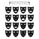 Theatrale maskers, emoticons vector illustratie