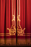 Theatre. Close of of theatre curtains Royalty Free Stock Images