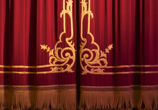 Theatre. Close of of theatre curtains Royalty Free Stock Photo