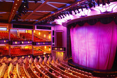 Theatre. With curtain found on a cruise ship