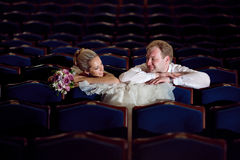 In the theatre Stock Images
