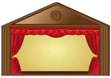 Theatre. Performance or cinema curtains Stock Photography