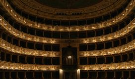 Theatre. Classic opera house and theatre in Parma, Italy. Teatro regio di parma isthe full name Royalty Free Stock Photos