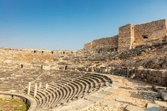Theatre at the archaeological site of Miletus. royalty free stock photo