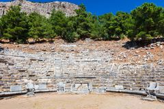 Theatre at the archaeological site of Priene. Stock Images
