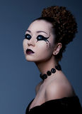 Theatre. Artistic model with creative makeup Stock Photography