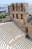 Theatre in Athens. The Odeon of Herodes Atticus - theatre in Athens, Greece Stock Photo